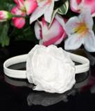 Bentita alba cu trandafir din organza, Universal