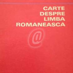 Carte despre limba romaneasca