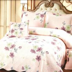 Cuvertura de pat + 4 Fete de Perna - Pat 2 Persoane - 100% Bumbac - E-S43