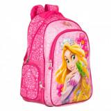 Ghiozdan gradinita pentru fetite, model Rapunzel, 35x45x12,5 cm, roz