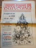 ziarul baricada 25 decembrie 1990-ziua de craciun,1 an de la revolutie