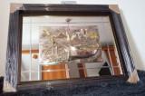 Tablou ARGINT925 oglinda rama noua (KonArt) 87cm/67cm unic/deosebit/luxos/semnat, Marine, Fresca, Art Nouveau