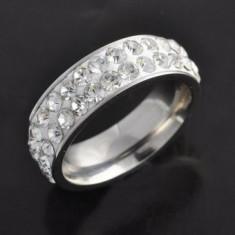 Inel titan White Crystal marime 7US