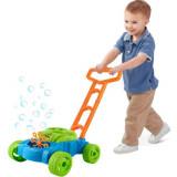 Cumpara ieftin Masina de Tuns Iarba de Jucarie si Facut Baloane de Sapun Automat pentru Copii, Solutie Baloane Inclusa, Kruzzel