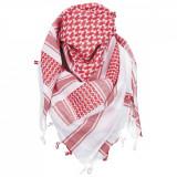Cumpara ieftin Esarfa arab Shemagh, MFH, 100% bumbac, 115x110 cm, negru rosu