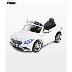Masinuta electrica Toyz Mercedes-Benz S63 AMG 12 V cu telecomanda White