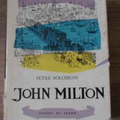 JOHN MILTON - PETRE SOLOMON