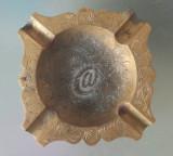 Scrumiera vintage din alama