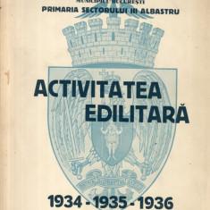 Activitatea Edilitara 1934 1935 1936 Primaria Sectorului III Albastrtru