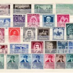 Romania   1939 - 40   lot  28    valori   sarniera