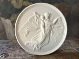 Aplica rotunda de perete din portelan biscuit marcaj B&G Copenhagen Porcelain !