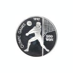 Coreea de Nord 500 Won 1991 - Olympics, Argint 27 g/999, Aoc1 KM-63 UNC !!!
