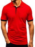 Tricou polo bărbați roșu Bolf 171222-1
