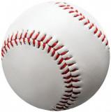 Minge de Baseball Enero, din piele sintetica, 70 mm, alb