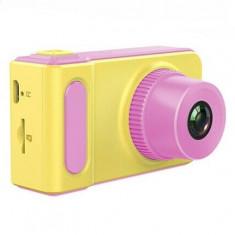 Camera digitala rezistenta la apa pentru copii, galben cu roz, Gonga