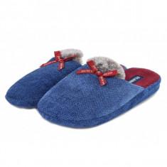 Papuci de casa albastrii (cod 192-1801555)