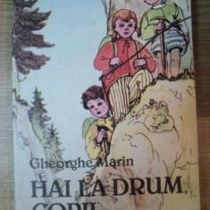 HAI LA DRUM COPII de GHEORGHE MARIN , ILUSTRATII DE EUGENIA HAGIU , Bucuresti 1988