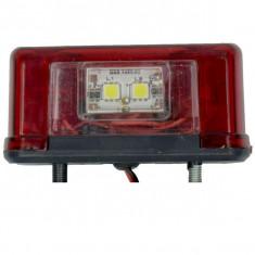 Lampa numar LED 24V Lumina: alba / rosie Remorca Rulota Platforma AL-291119-4