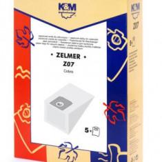 Sac aspirator Zelmer 2000, hartie, 5X saci, K&M