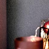 Role tapet nețesut, 4 buc., gri închis strălucitor, 0,53 x 10 m, vidaXL
