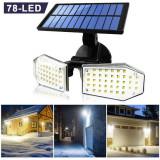 Proiector Lampa Stradala Solara Senzor Miscare 78 Led-riSmd- 440GR