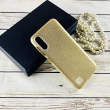 Cumpara ieftin Husa silicon 3 in 1 cu sclipici Samsung A6 Plus - Gold