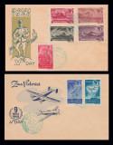 1948 Romania, 2 FDC Fratia de arme romano-sovietica, plic UNIVERSUM Erős LP 235