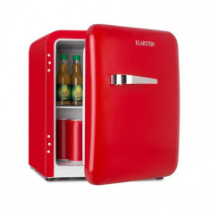 Klarstein Audrey Mini, frigider retro, 48 l, 2 nivele, A+, roșu