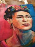 * Sacosa Geanta Tote Bag Frida Kahlo, 43x34cm