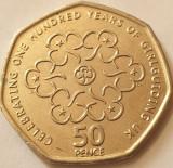 Monedă 50 pence 2010 Marea Britanie, Girlguiding, km#1165, Europa