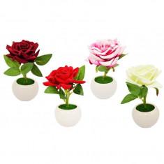 Trandafiri Artificiali in Suport Ceramic