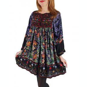 Rochie Bluza brodata cu imprimeu floral Oana