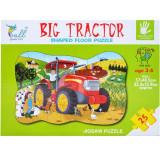 Puzzle carton, 25 piese, Tractor ferma