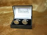 Butoni camasa, argint, Harrods, colectie, cadou, vintage