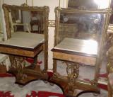 Noptiera-oglinda/noptiere empire/baroc/Ludovic/antic/vintage/epoca,Italia, Paturi si seturi dormitor, 1800 - 1899