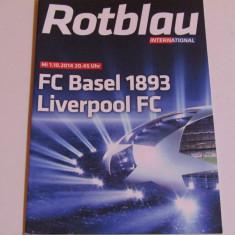 Program meci fotbal FC BASEL-FC LIVERPOOL(Champions League 01.10.2014)