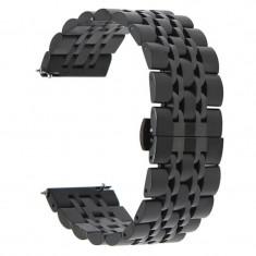 Curea metalica, compatibila Huawei Watch GT, telescoape Quick Release, 22mm, Black