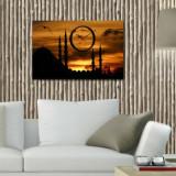 Cumpara ieftin Tablou decorativ cu ceas Clockity, 248CTY1636, Multicolor