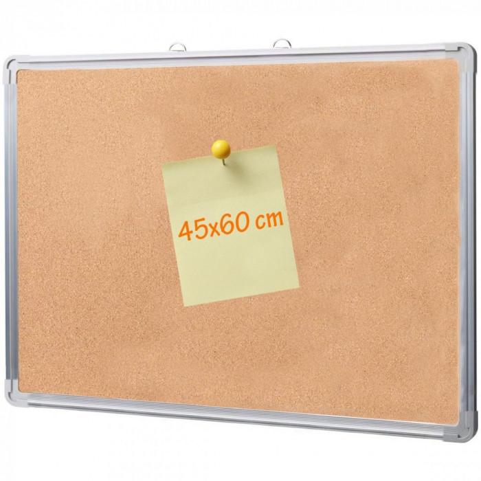 Panou din pluta 45x60 cm, rama aluminiu, afisare documente
