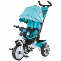 Tricicleta copii 1,5+ ani cu copertina si sezut reversibil Max Relax sky