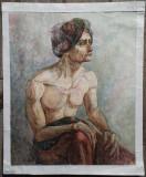 Barbat cu turban// acuarela pe hartie, nesemnata, Peisaje, Avangardism