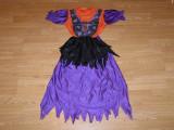 costum carnaval serbare vrajitoare pentru copii de 6-7 ani