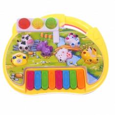 Mini orga de jucarie cu luminite pentru copii CY6091B
