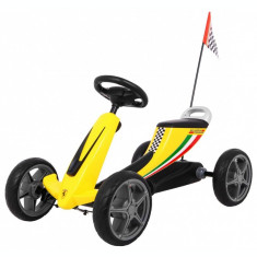 Go Kart cu pedale Ferrari, galben