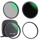 Kit filtre K&F Concept 58mm MCUV+CPL+ND1000 si inel magnetic SKU.1652