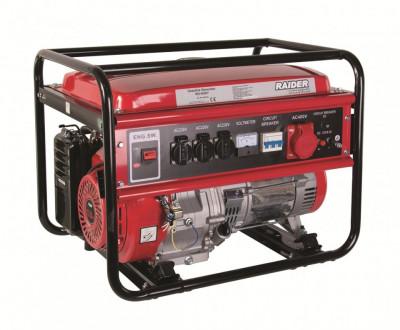 Generator benzina 5kW, 230V & 380V, 13 CP, RD-GG07, Raider Power Tools foto