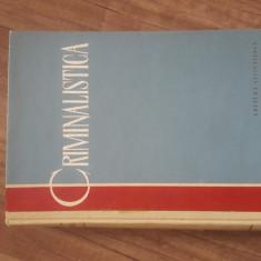 CRIMINALISTICA - S.A. GOLUNSKI, 1961