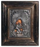 Icoane argintate, Icoana Maica Domnului, dim 20cm x 23cm, cod A-16.1