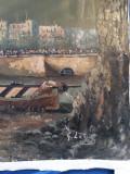PICTURĂ ULEI SFÂRȘIT DE SEC XIX, Marine, Impresionism