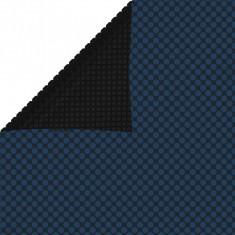 Folie solară plutitoare de piscină negru/albastru 260x160 cm PE